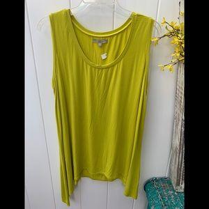 Joan Vass lime green 0X sleeveless top